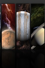 Preview iPhone wallpaper The planets of the solar system