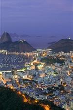 Preview iPhone wallpaper Travel to Brazil, Rio de Janeiro, city evening, lights, bay