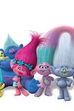 Preview iPhone wallpaper Trolls, cartoon movie 2016