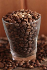 Preview iPhone wallpaper Two glass cups coffee beans