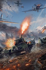 Preview iPhone wallpaper War Thunder, tanks