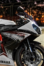 Preview iPhone wallpaper Yamaha motorcycle at night city street