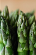 Preview iPhone wallpaper Asparagus close-up, vegetables