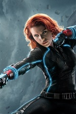 Preview iPhone wallpaper Avengers 2, black widow, Natasha, Scarlett Johansson