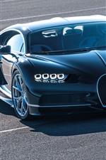Preview iPhone wallpaper Bugatti Chiron 2016 blue supercar
