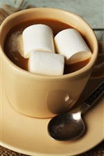 Preview iPhone wallpaper Chocolate drinks, cup, marshmallows