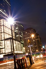 Preview iPhone wallpaper City street, night, lights, buildings, Philadelphia, USA