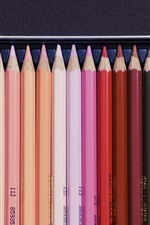 Preview iPhone wallpaper Colorful pencils, drawing tool