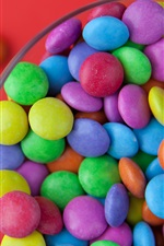 Preview iPhone wallpaper Colorful sweet candy, sugar pills