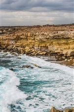 Preview iPhone wallpaper Cyprus, sea, coast, rocks, cliff