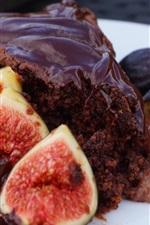 iPhone обои Инжир и шоколадный торт