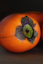 Fruit macro photography, persimmon, pomegranate