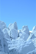 Preview iPhone wallpaper Glacier, snow mountain, cold