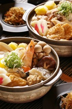 Preview iPhone wallpaper Japanese cuisine, meals, seafood