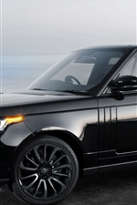 Preview iPhone wallpaper Land Rover Range Rover black car side view