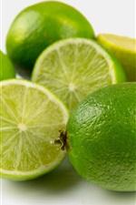Lime, green lemon, fresh fruit