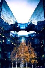 Vorschau des iPhone Hintergrundbilder London, Großbritannien, Stadt, Gebäude, Straße, Bäume, Menschen