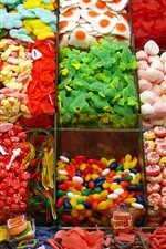 Many kinds of candy, colorful, shop