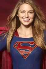 Preview iPhone wallpaper Melissa Benoist, Supergirl TV series, DC Comics