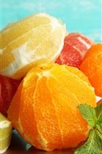 Preview iPhone wallpaper Peeled fruit, citrus, oranges