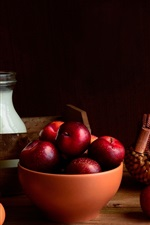 Preview iPhone wallpaper Plums, eggs, milk
