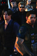 Preview iPhone wallpaper Resident Evil 6, game characters