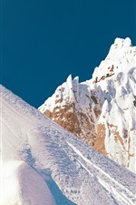 Preview iPhone wallpaper Snow mountain, snowboard, jump, extreme sports