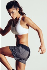 Preview iPhone wallpaper Sportswear, fitness girl