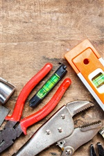 Preview iPhone wallpaper Tools collection, wood workbench