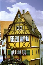 Travel to Germany, Rothenburg, Bayern, street, houses