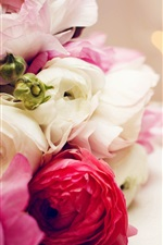 Preview iPhone wallpaper White pink red flowers, rose, candles, fire