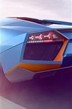 iPhone fondos de pantalla 2017 Lamborghini azul supercar vista trasera