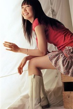 Preview iPhone wallpaper Aragaki Yui 09