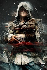 Preview iPhone wallpaper Assassin's Creed, black background