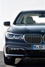 BMW 730D car front view