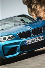Preview iPhone wallpaper BMW M2 F87 blur car front view