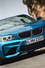 미리보기 iPhone 배경 화면 BMW M2 F87 흐림 자동차 정면보기