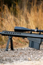 Preview iPhone wallpaper Barrett M82 self-loading sniper rifle, weapon