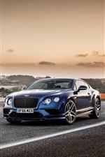 미리보기 iPhone 배경 화면 Bentley 갈색과 파란색 자동차