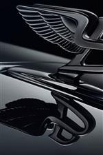 미리보기 iPhone 배경 화면 Bentley 로고, 검정색 배경
