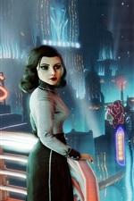 BioShock Infinite, menina olhar para trás, cidade