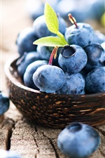 Preview iPhone wallpaper Blueberry, fruit close-up