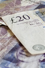 Preview iPhone wallpaper British pounds, currency, money