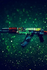 CS GO game, AK-47 assault rifle