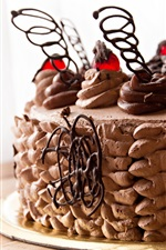 Preview iPhone wallpaper Chocolate cake, cream