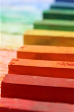 Preview iPhone wallpaper Colorful chalks
