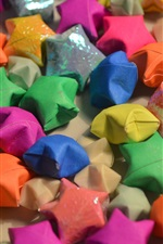 Preview iPhone wallpaper Colorful origami stars