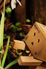 Preview iPhone wallpaper Danbo look at snowdrops