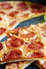 Preview iPhone wallpaper Delicious pizza, tomatoes