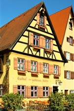 Preview iPhone wallpaper Dinkelsbuhl, Germany, houses, street